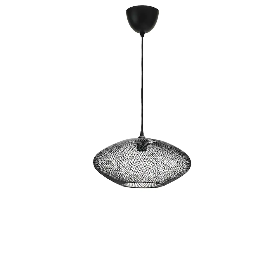 Luftmassa Hemma Pendant Lamp Oval Patterned Black 15 Ikea In 2020 Ikea Pendant Light Decorative Light Bulbs Pendant Lamp