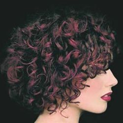 Lovely Highlights - Redhead, 3a, Short hair styles, Styles, Female, Curly hair hairstyle picture