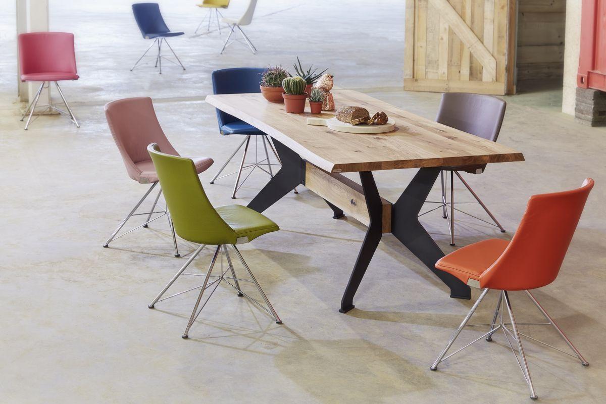Eetkamertafel Bixx en eetkamerstoel Rho van Bert Plantagie