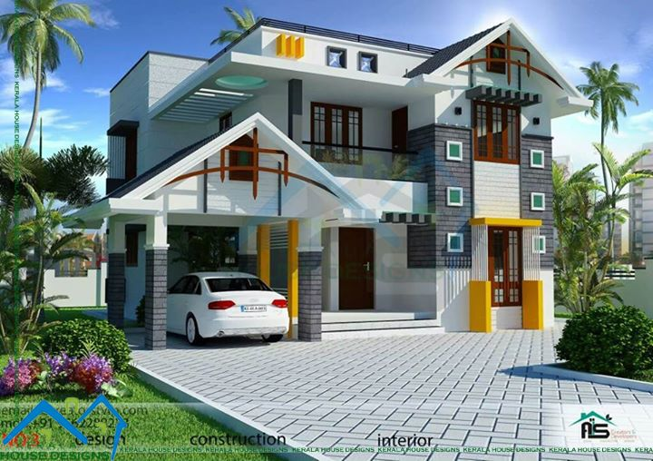 Here Is A 3 Bedroom Kerala House Design For Those Who Are Looking For A More Kerala House Design Modern House Plans Model House Plan