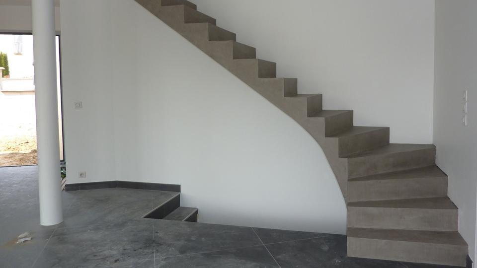 Transformation d\'un escalier grâce au béton ciré | Escalier ...