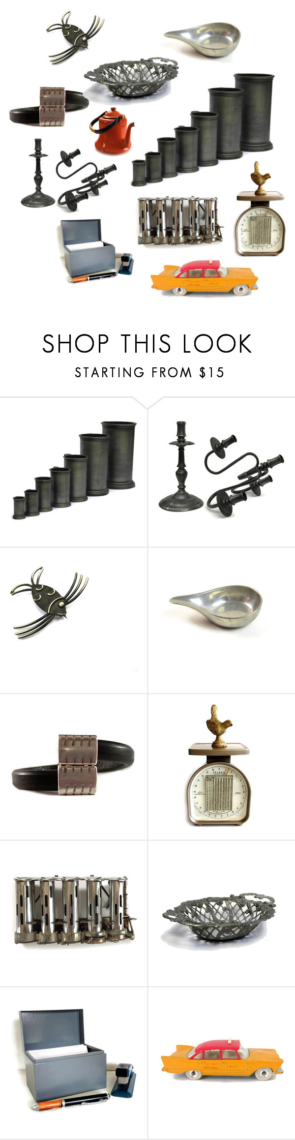 """Heavy Metal"" by patack ❤ liked on Polyvore featuring interior, interiors, interior design, home, home decor, interior decorating and vintage"