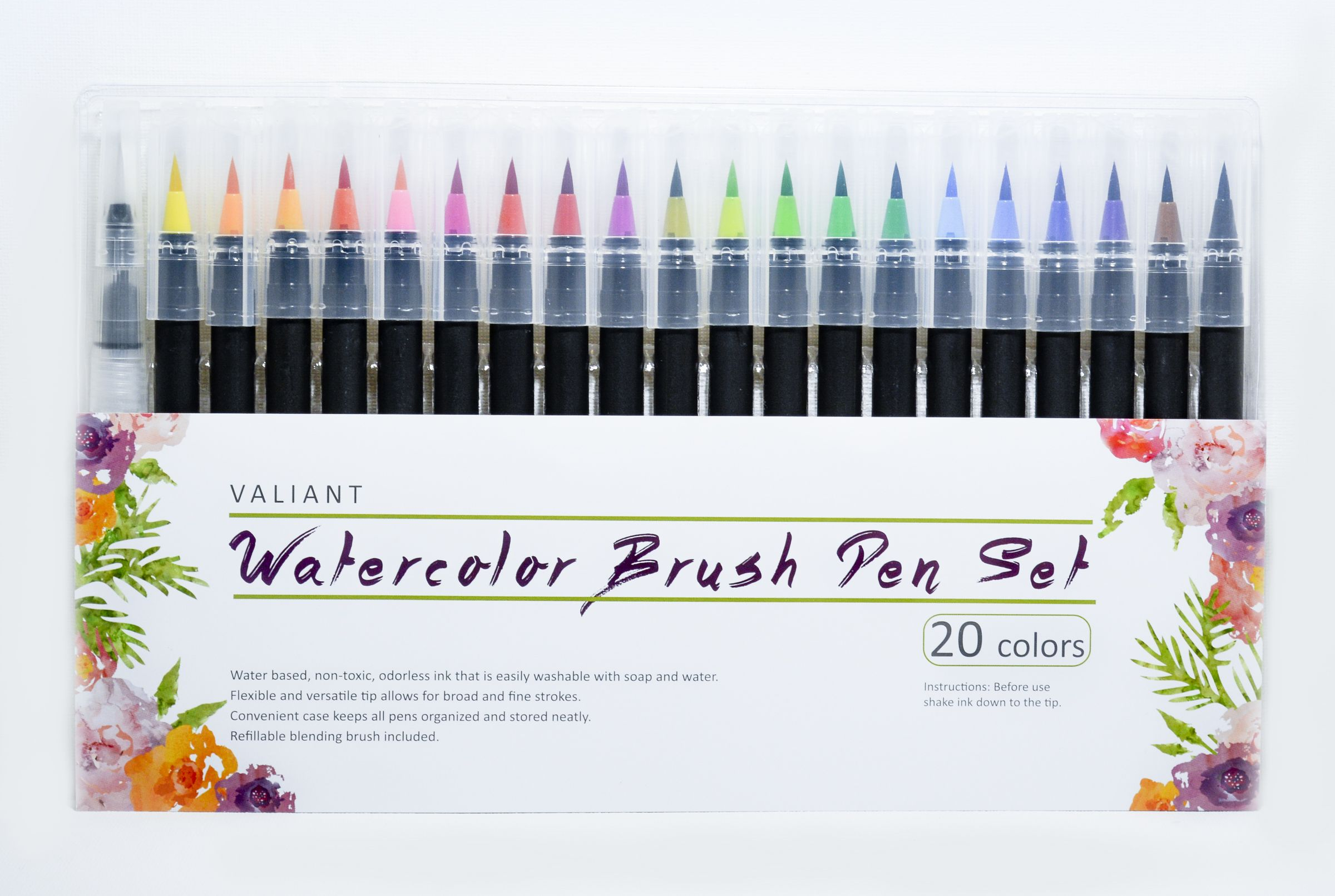 Watercolor Liquid Paint Brushes No Water Needed To Create And