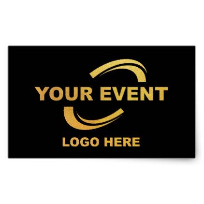 Your event logo stickers black party gifts