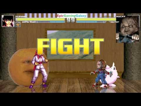 Annoying Orange And Kurama VS Chucky The Killer Doll Jigglypuff In A MUGEN Match Battle This Video Showcases Gameplay Of