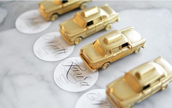 golden hochzeit dekoration taxi auto tischkarten. Black Bedroom Furniture Sets. Home Design Ideas