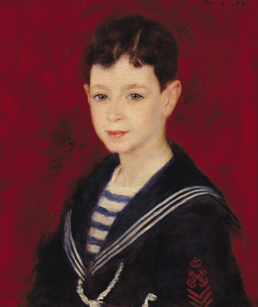 Retrato De Fernand Halphen Portrait 1880 Auguste Renoir
