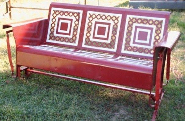 Wedding Band Metal Glider   RARE Pattern! Wedding Ring Vintage Metal  Restored Porch Glider In ...   Home   Pinterest   Porch Glider, Wedding  Rings Vintage ...