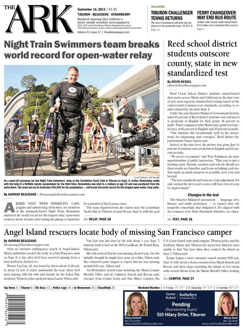September 16, 2015 | Front Pages of The Ark newspaper