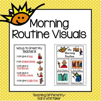 These Clear Visuals Will Help Your Students Independently Follow Morning Routines And Gree Special Education Unique Learning System Special Education Resources