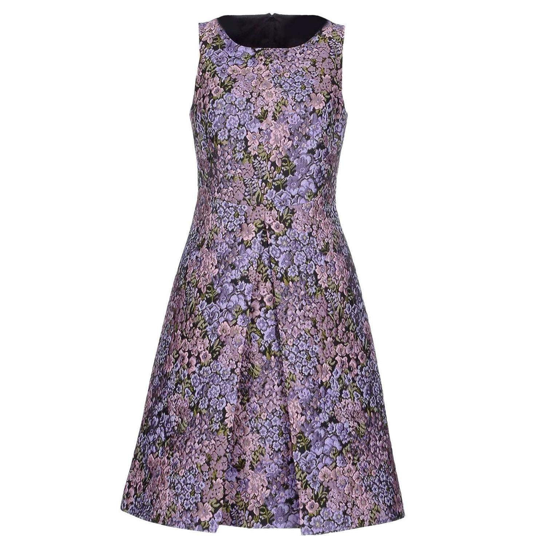 New michael kors jacquard lilac floral design dress size lilacs