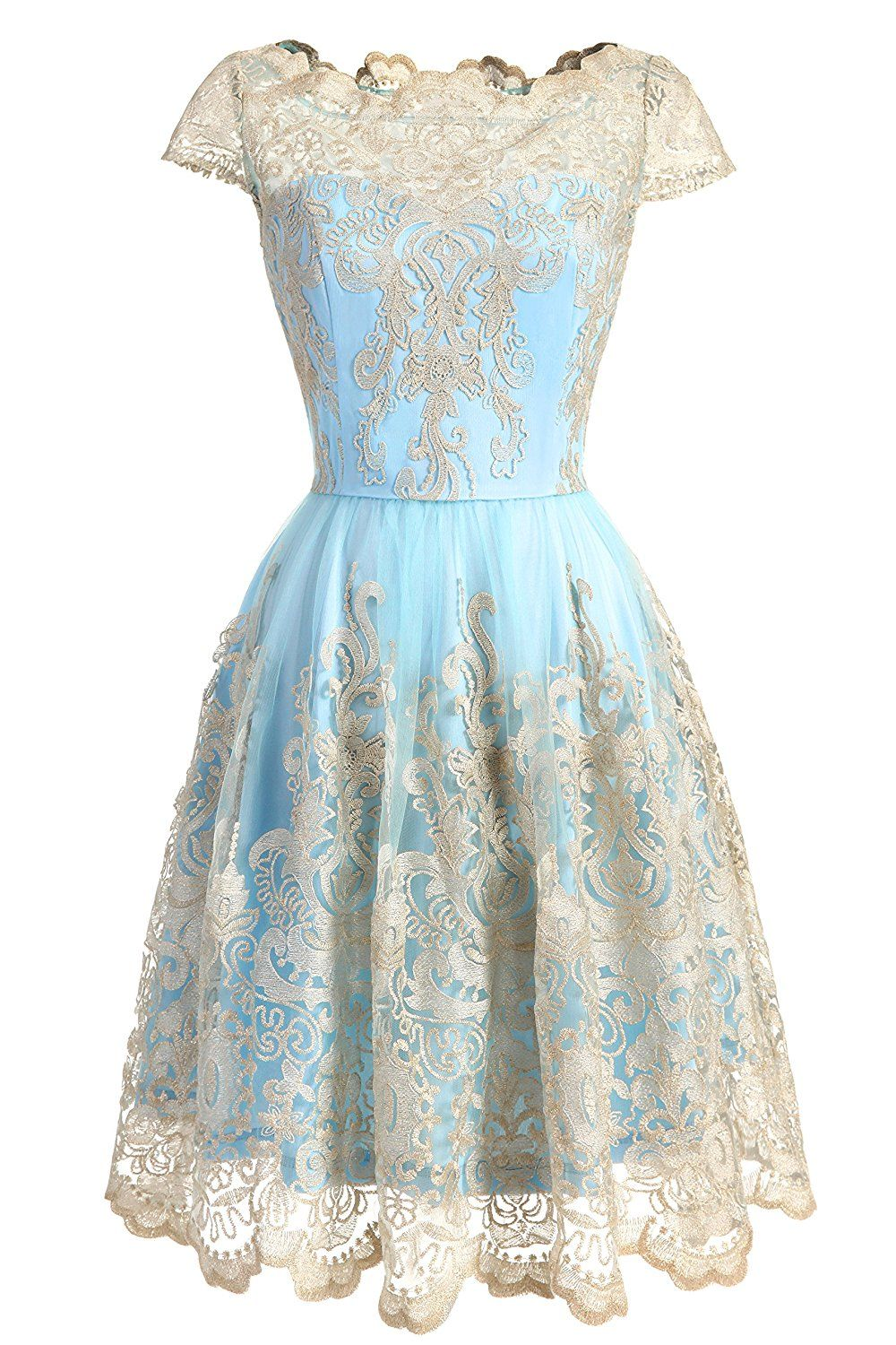 DRESSTELLS Women\'s Floral Embroidered Lace Cocktail Maxi Formal ...