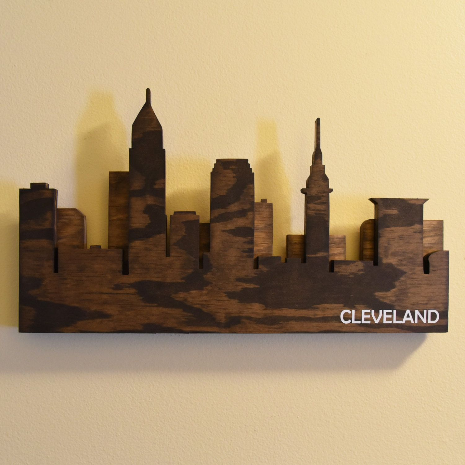 Cleveland Skyline Wall Art | Picture hangers, Clamp and Hanger
