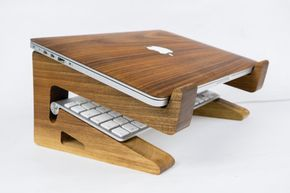 Walnut Wood Laptop Stand-Macbook Stand-Notebook Riser-Macbook Riser-
