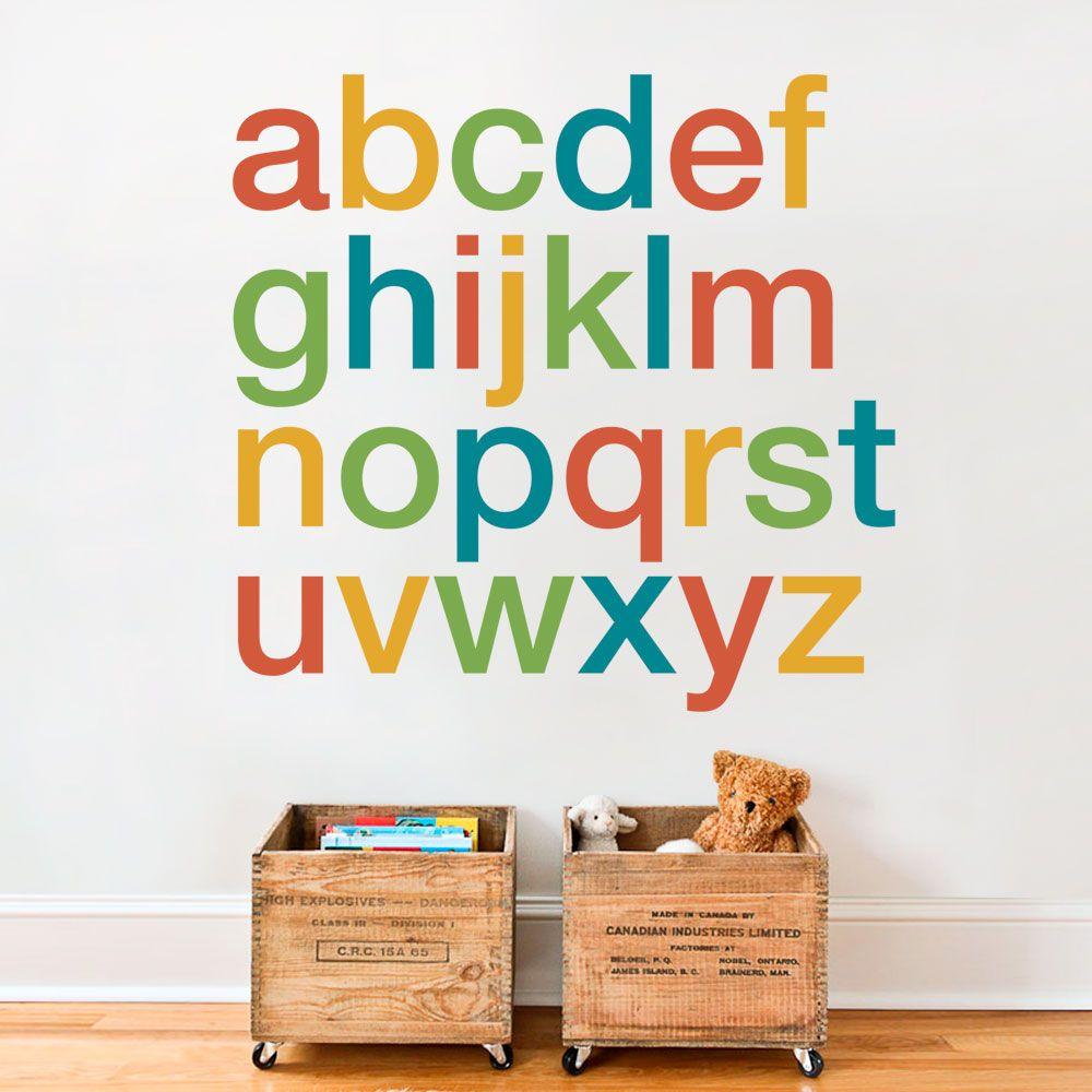 Alphabet Wall Decals Scheme A Alphabet Wall Decals Alphabet