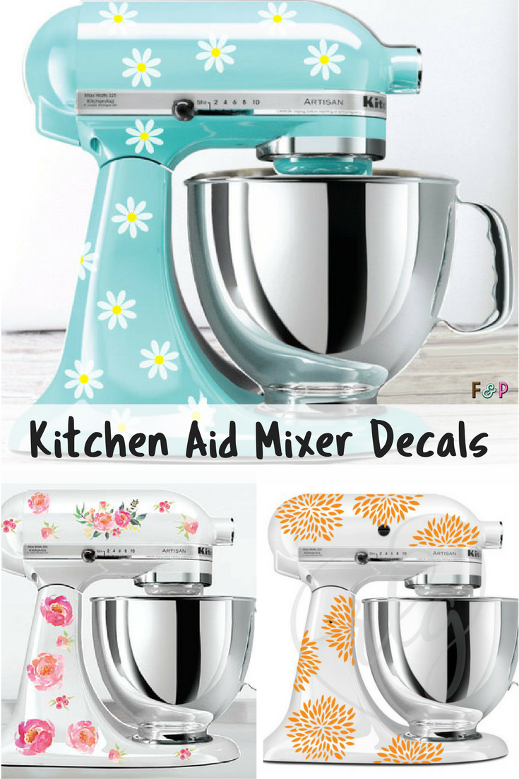 What a fun way to personalize my Kitchen Aid mixer! And there are ...