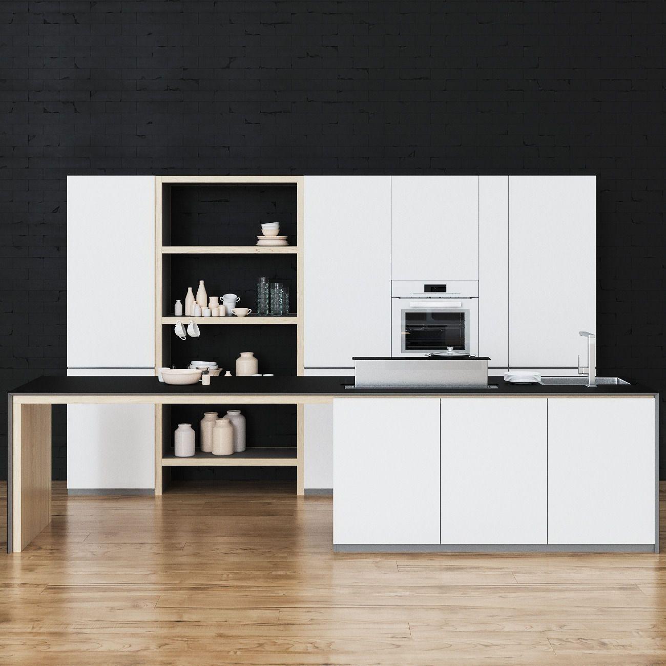 kitchen 3d model max obj fbx mtl 1 Cocina empotrada