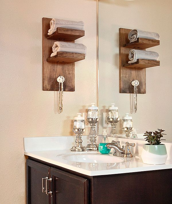 The cool wallmounted towel holder was inspired by