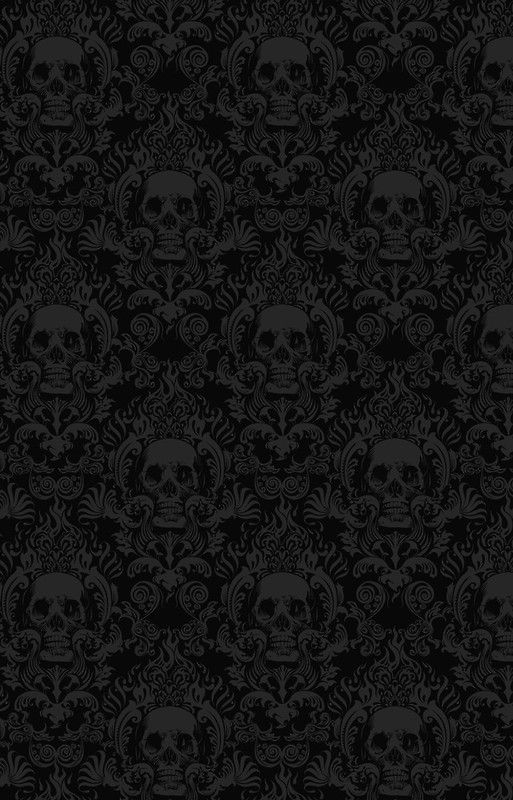 Skull Damask Wallpaper iPhone Case