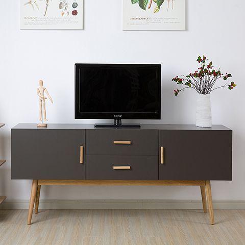 Sombre moderne et minimaliste table basse en bois meuble tv blanc section de la nordic