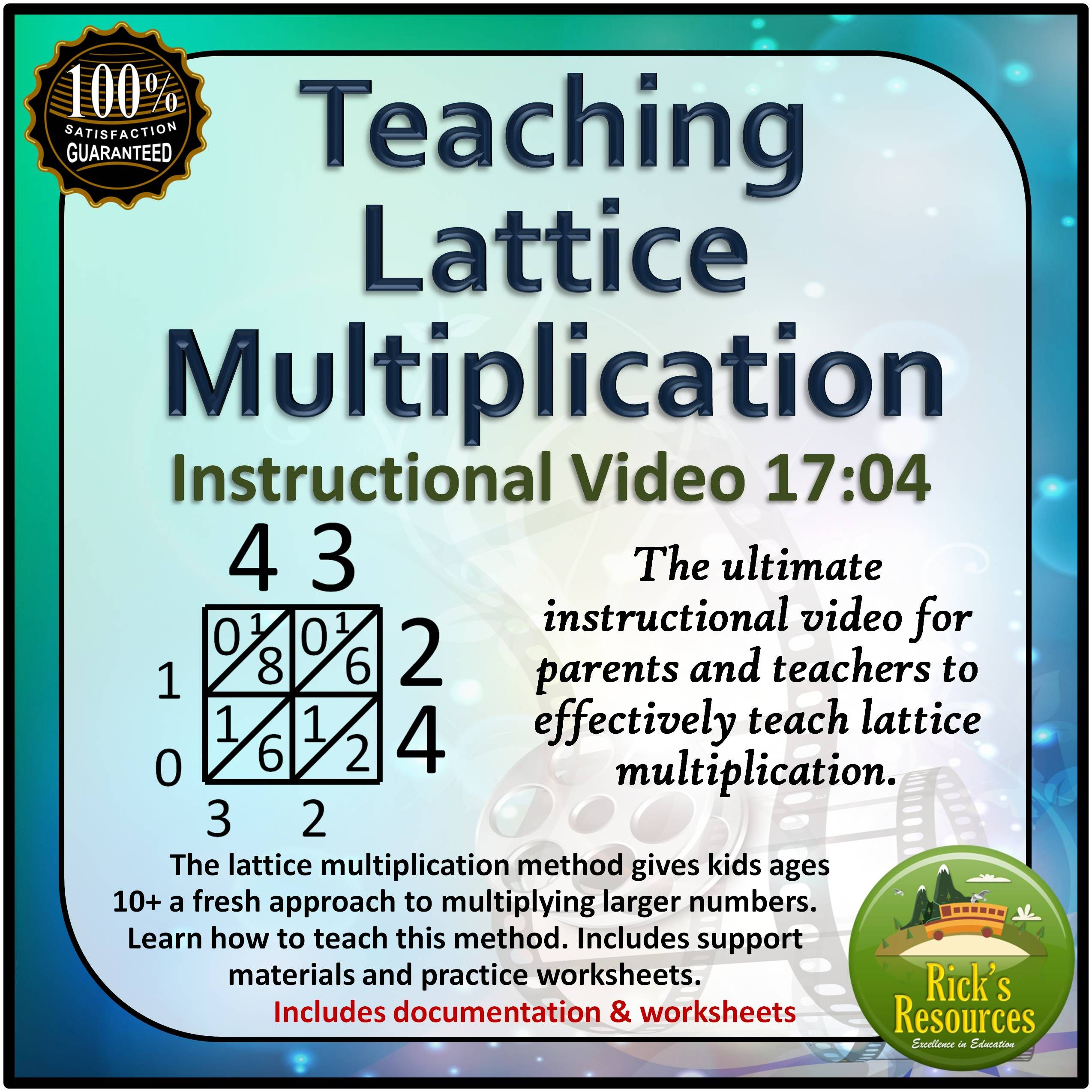 Lattice Multiplication Instructional Video for Teachers and Parents ...