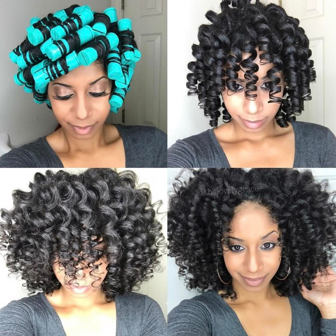 Perm rods on natural hair large perm rods thelovelygrace my curls