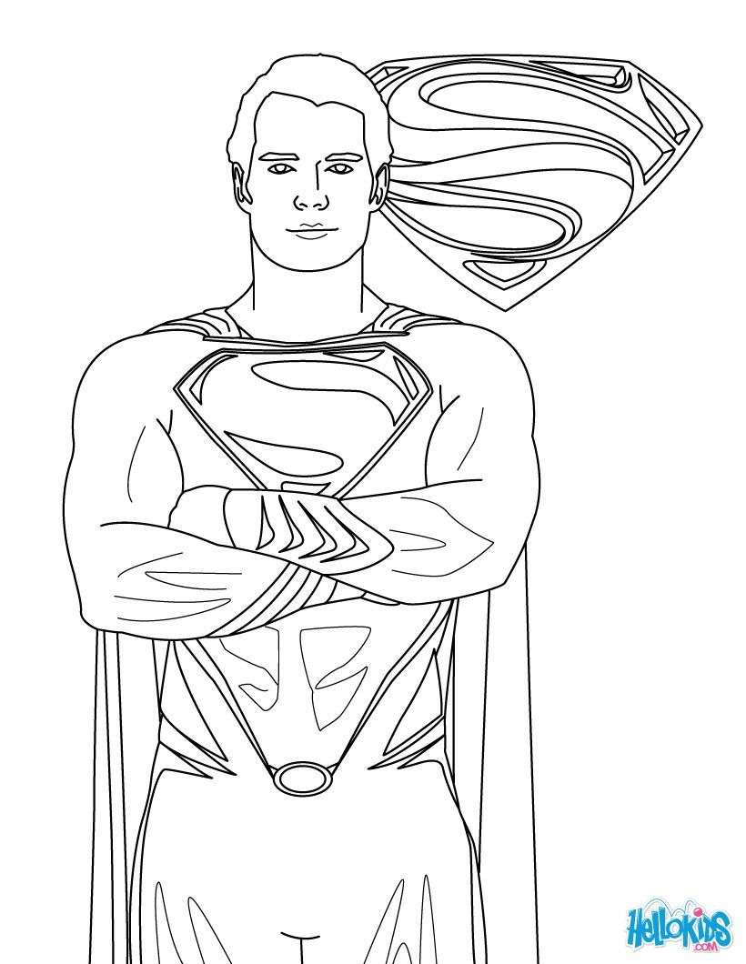 Free Superman Coloring Pages With Superman Printing And Drawing ...