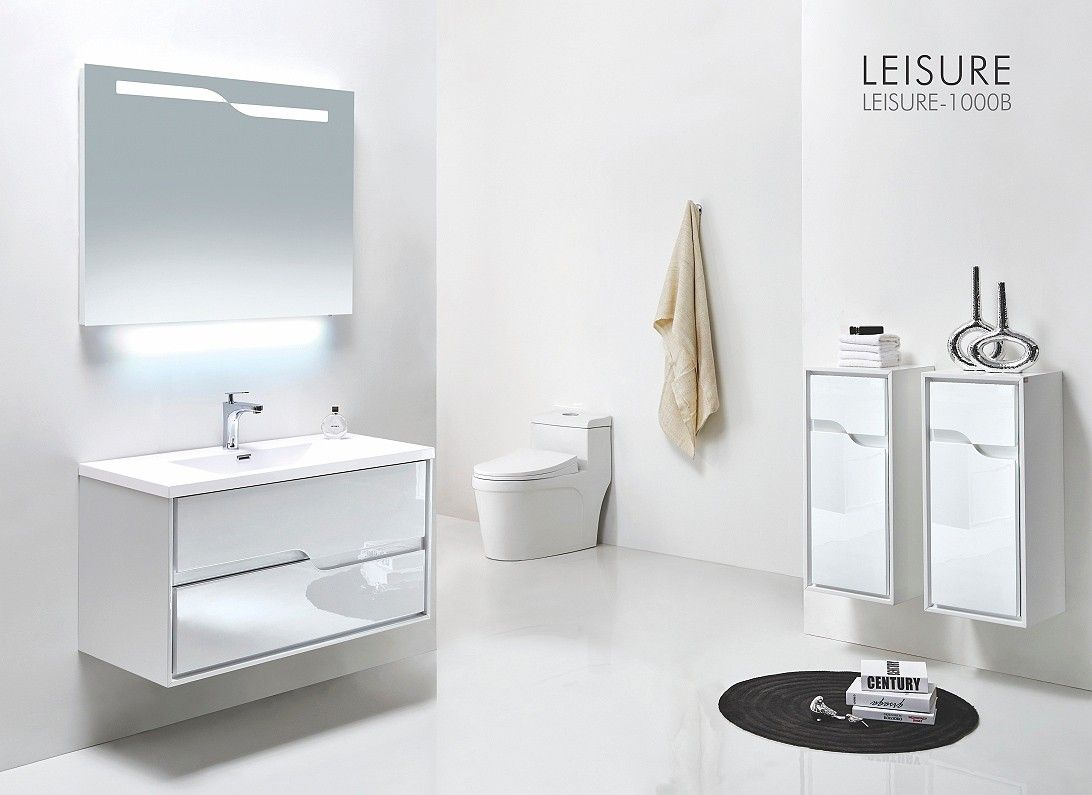 Vumn® Excellent Quality Double Drawers Plywood White Bathroom ...