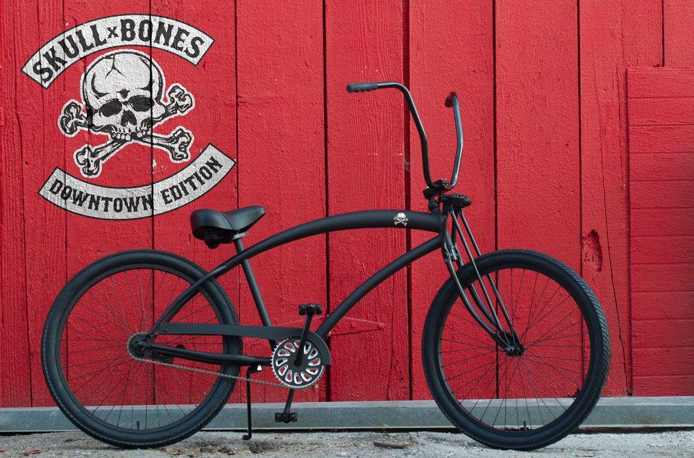1 Speed Cruisers Mens Beach Cruiser Skull X Bones Bike