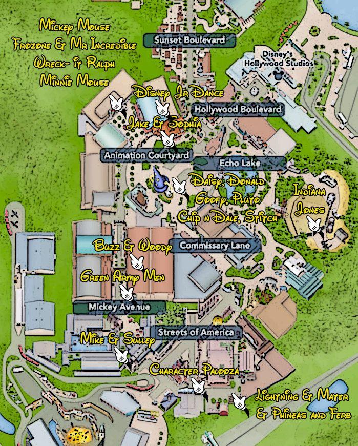 Hollywood-Studios-Character-Locations-Map | disney trip / florida ...