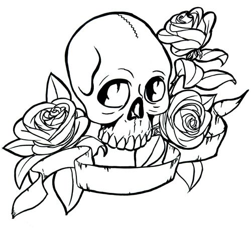 skulls coloring pages tattoo pictures to pin on pinterest