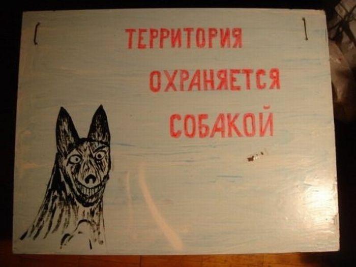 Картинки по запросу территория охраняется собакой
