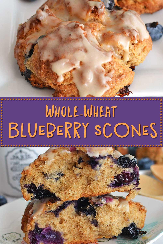 Whole Wheat Blueberry Scones Scones Integrales De Arandanos Sweet Cannela Recipe In 2020 Wheat Muffin Recipe Blueberry Scones Scones