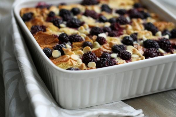 {I made this} White Chocolate Berry Bread Pudding