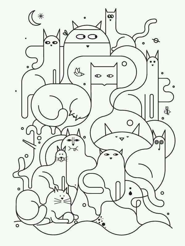 Pin de Tiffiny Kallina en Nice Things | Pinterest | Gato, Dibujo y ...