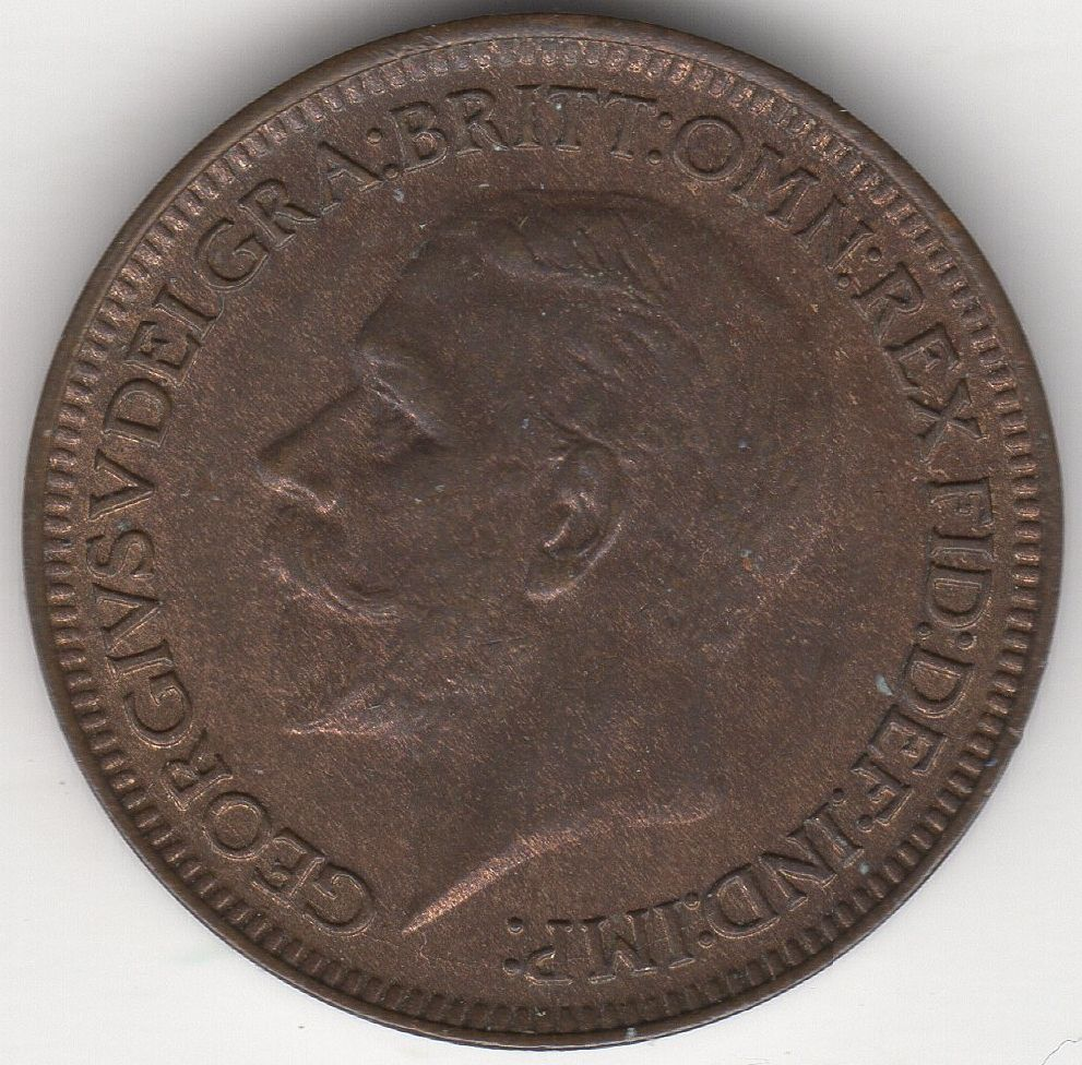 1930 v farthing british coins pennies2pounds