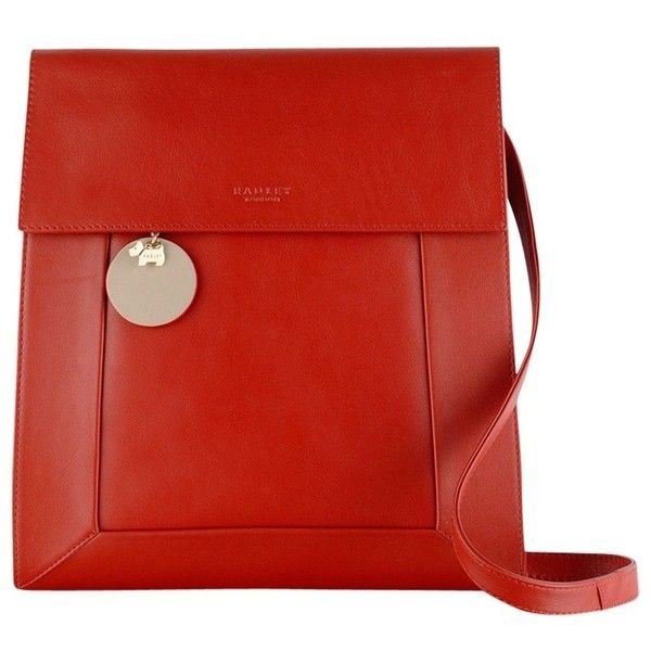 Radley Border Leather Cross Body Bag, Red ($185) ❤ liked on Polyvore featuring bags, handbags, shoulder bags, shoulder sling bag, red crossbody, leather crossbody, red leather purse and crossbody shoulder bags