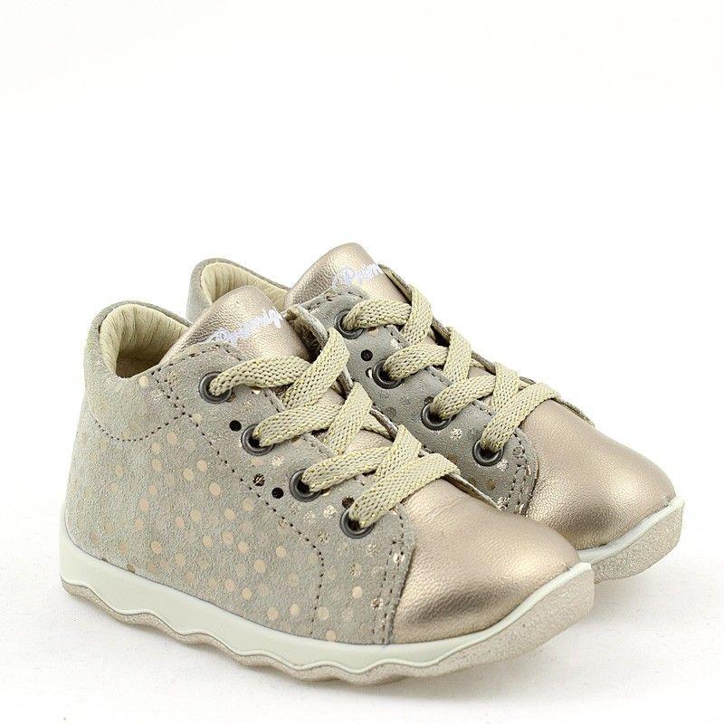 Primigi 5353200 Buty Dzieciece Trzewiki Przejsciowe Zlote Shoes Sneakers Fashion