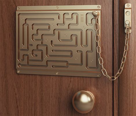 Defendius Labyrinth Security Lock That Little Chain Stands No Chance Against My Maze Rage When I M In A Hurry And Trying To Get Out Of My クリエイティブ ハウスデザイン 満月