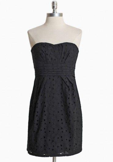 Ledell Strapless Eyelet Dress By BB Dakota