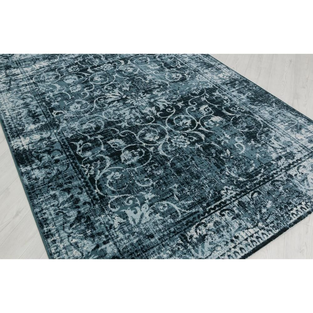Tayse Rugs Concept Blue 5 ft. 3 in. x 7 ft. 3 in ...