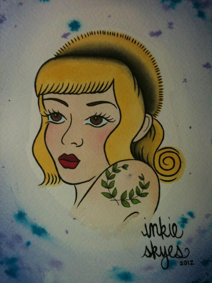 Skingirl art by Inkie Skyes