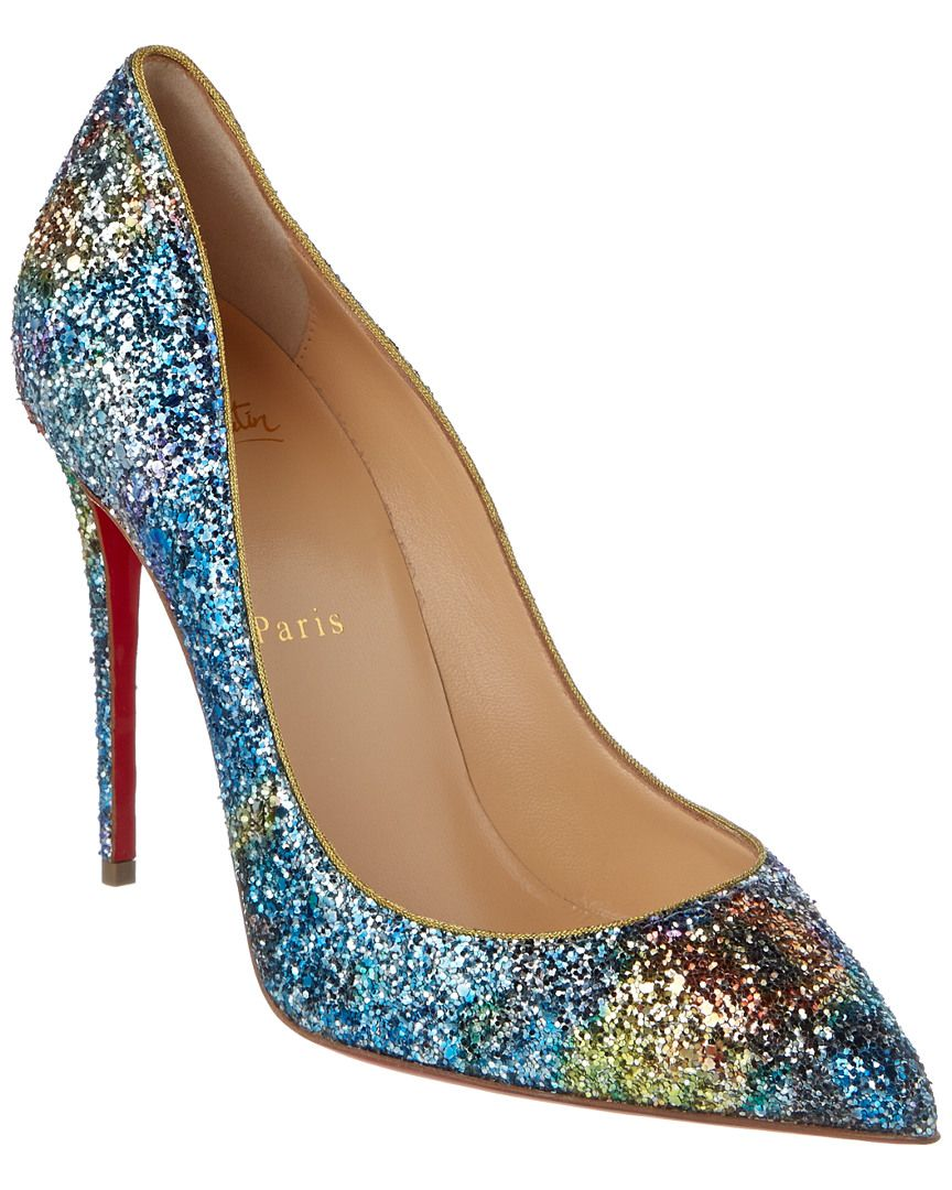 f1a77ecfe3ee Christian Louboutin Pigalle Follies Glitter 100mm Pump is on Rue. Shop it  now.