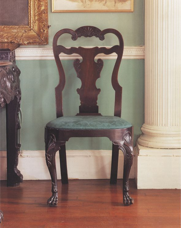 One Of A Pair Of Mahogany Dining Chairs C 1750 Glin Castle Co