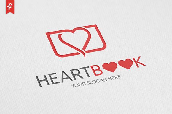 Heart Book Logo by ft.studio on Creative Market
