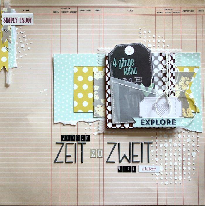 Layout mit Minialbum von Nadine Westphal | www.danipeuss.de