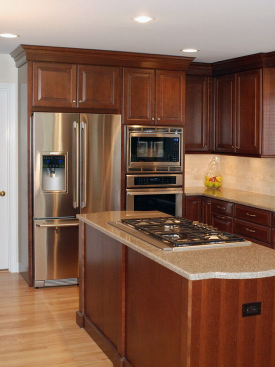 traditional kitchen cherry cabinets design pictures