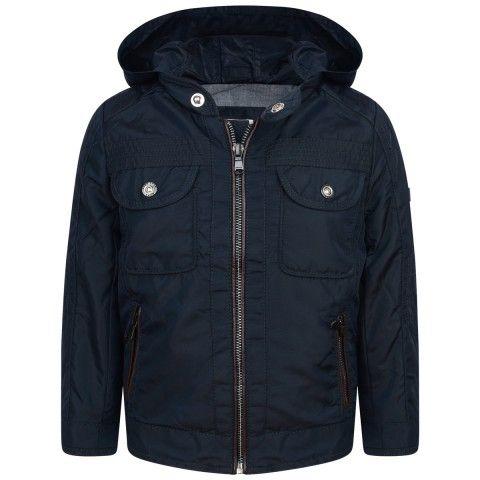 BOSS Boys Navy Jacket With Fold Away Hood