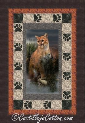 Cougar And Paws Panel Quilt Pattern Cjc 51741 Panels And