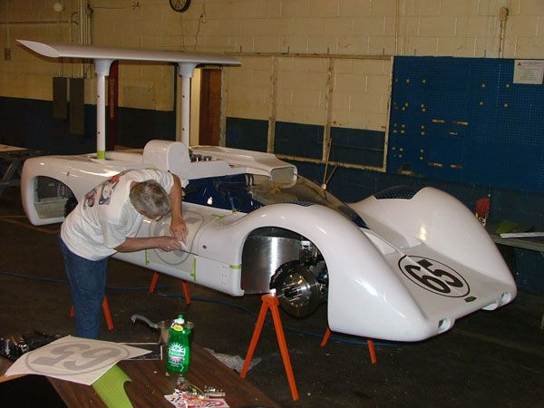 10: fiberglass body panels attached to the 2E chasis  | Jim
